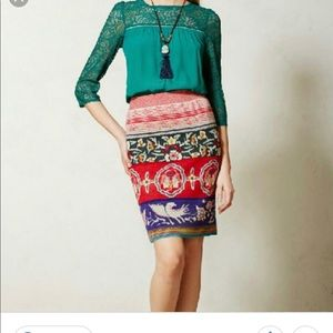 Anthropologie sweater skirt chava XS